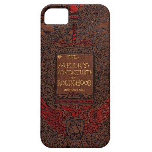 Cubierta de libro obligatoria antigua de Robin iPhone 5 Carcasa
