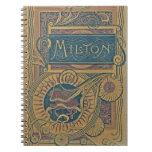 Cubierta de libro poética de trabajos de John Milt Libros De Apuntes