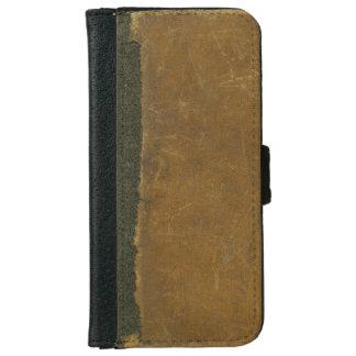 Cubierta de libro rasgada inspirada cuero antiguo carcasa de iPhone 6