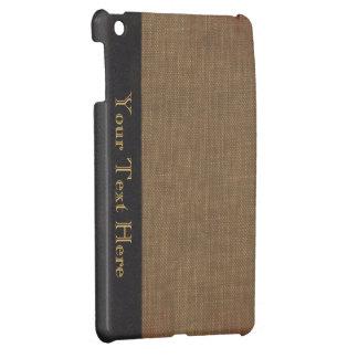 Cubierta de libro viejo, mirada retra encuadernada iPad mini coberturas