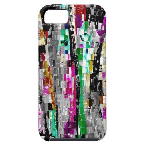 cubierta de los casos del iPhone 5 con arte abstra iPhone 5 Cárcasa