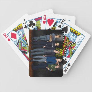 Cubierta de los muchachos de la central eléctrica baraja cartas de poker