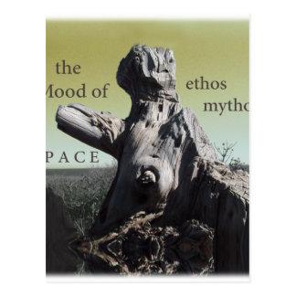 cubierta de los mythos del carácter tarjetas postales