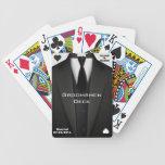 Cubierta de los padrinos de boda baraja cartas de poker