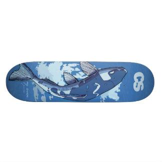 Cubierta de los pescados del CS Skate Boards