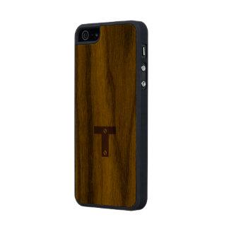 cubierta de madera cosechada iPhone Funda De Nogal Carved® Para iPhone 5 Slim