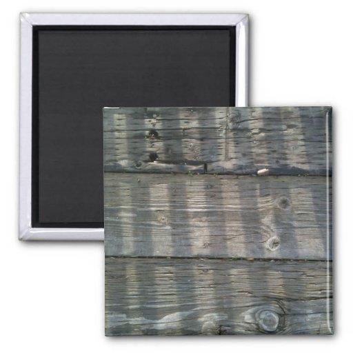 Cubierta de madera de los tablones de la sombra imán cuadrado