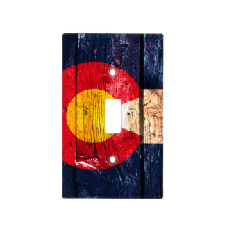 Cubierta de madera rústica de la luz de la bandera placas para interruptor
