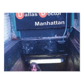 """Cubierta de Manhattan Invitación 4.25"""" X 5.5"""""""