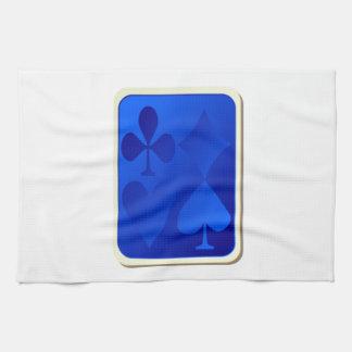 Cubierta de naipes toallas de mano