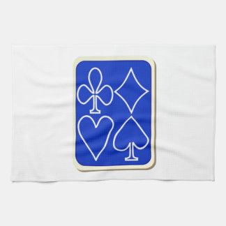 Cubierta de naipes toallas de cocina