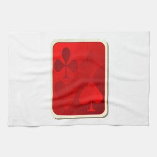 Cubierta de naipes toalla de mano