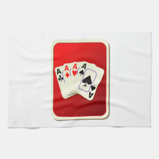 Cubierta de naipes toalla de cocina