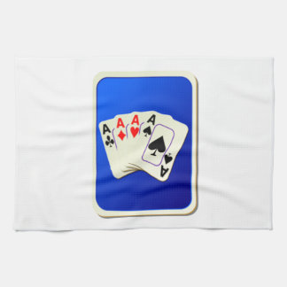 Cubierta de naipes toalla