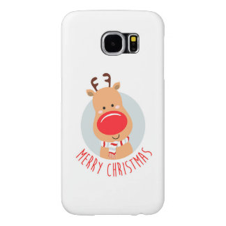 Cubierta de Navidad Rendeer Fundas Samsung Galaxy S6