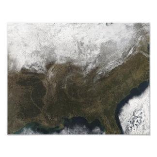 Cubierta de nieve sobre los Estados Unidos Fotografías