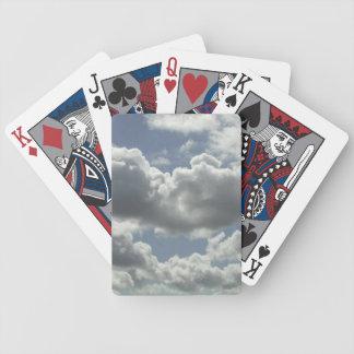 Cubierta de nubes de encargo de la tarjeta barajas