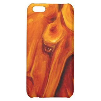 Cubierta de oro de IPhone del caballo