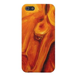 Cubierta de oro de IPhone del caballo iPhone 5 Cobertura