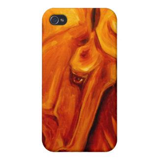 Cubierta de oro de IPhone del caballo iPhone 4/4S Fundas