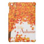 Cubierta de oro del iPad del otoño - la caída se v