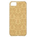 Cubierta de oro del iPhone 5 del damasco de la flo