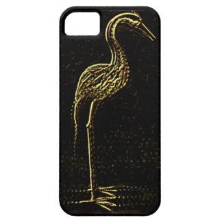 cubierta de oro del teléfono celular del pavo real