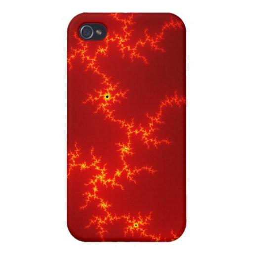 cubierta de Pern 4 de los fractales iPhone 4/4S Carcasa