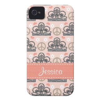 Cubierta de princesa Tiara Blackberry Bold Case Funda Para iPhone 4