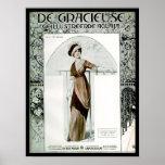 Cubierta de revista de moda del francés del vintag poster