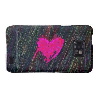 Cubierta de Samsung Galaxys del corazón Samsung Galaxy SII Carcasa