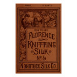 Cubierta de seda que hace punto de Florencia Poster