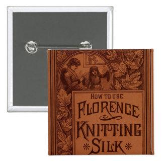Cubierta de seda que hace punto de Florencia Pin Cuadrada 5 Cm