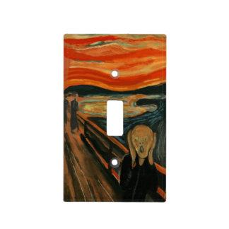 Cubierta de Switchplate del GRITO de Edvard Munch Placa Para Interruptor
