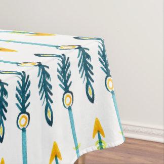 cubierta de tabla azul amarilla elegante de las mantel