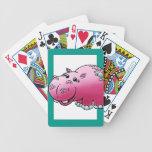 Cubierta de tarjetas, dibujo animado femenino lind cartas de juego