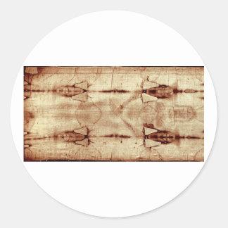 Cubierta de Turín, visión frontal Pegatina Redonda
