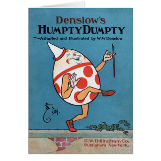 Cubierta de una adaptación 1904 de Humpty Dumpty Tarjeta De Felicitación