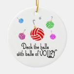 Cubierta de VolleyChick los pasillos Ornamento Para Arbol De Navidad