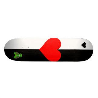 Cubierta del amor tabla de skate