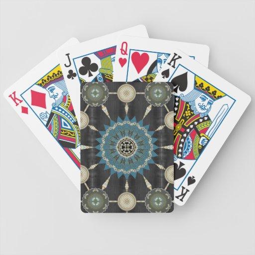 Cubierta del arsenal 1 de la mandala del cactus de baraja de cartas
