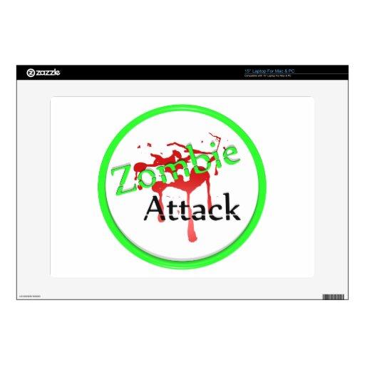 Cubierta del ataque del zombi calcomanías para portátiles