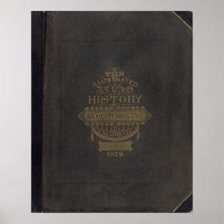 Cubierta del atlas de Yolo Co Póster