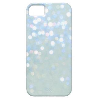 Cubierta del azul cielo blanca del brillo del iPho iPhone 5 Case-Mate Cárcasas