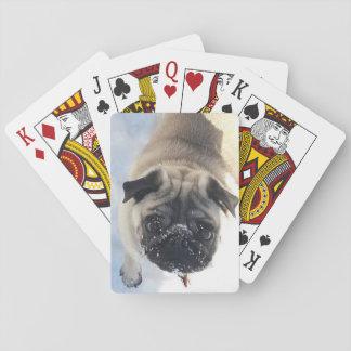 Cubierta del barro amasado Nevado de tarjetas Cartas De Póquer