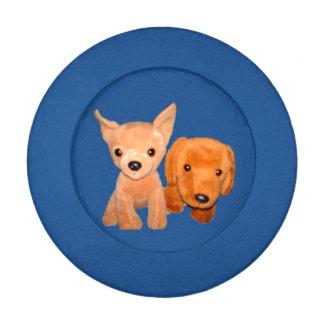 Cubierta del botón de los perritos del juguete de paquete pequeño de tapa botones