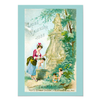 Cubierta del calendario 1888 de las señoras del invitación 12,7 x 17,8 cm