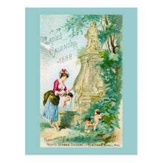 Cubierta del calendario 1888 de las señoras del tarjeta postal