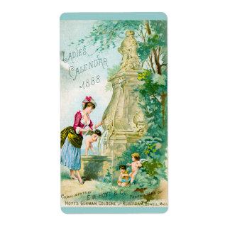 Cubierta del calendario 1888 de las señoras del vi etiquetas de envío