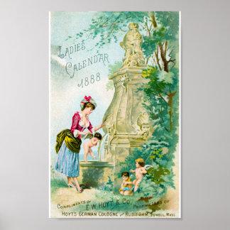 Cubierta del calendario 1888 de las señoras del vi poster